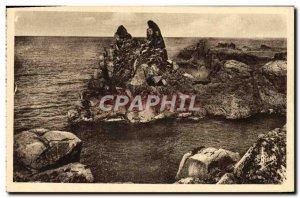 Old Postcard Ile De Brehat The Rock Of The Virgin