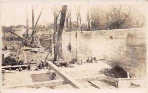 B30/ Occuptional Worker RPPC Postcard c1910 Dam Construction Water 4