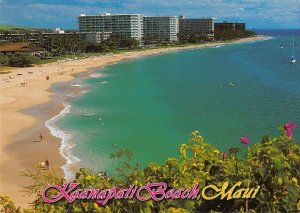 MIN0600 hawaii maui kaanapali beach ocean blocks hotels