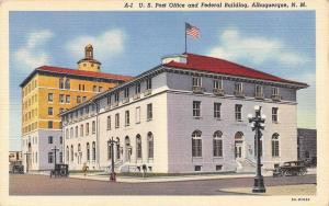 Albuquerque New Mexico~U.S. Post Office And Federal Building~1933 Linen Postcard