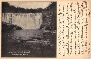 Oronoque Connecticut Farmill River Falls Scenic View Antique Postcard K72473