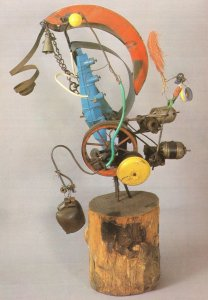 Jean Tinguely Military Canon Model Disaster Art Wrong Postcard