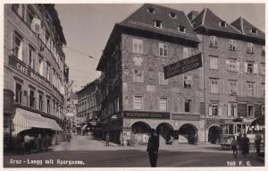 Hauptplatz Mit Sporgasse Graz Old Real Photo Austria Postcard
