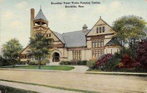 LPS78 Brookline Massachusetts Water Works Pumping Station Vintage Postcard