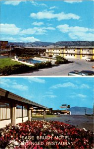 Kamloops BC Canada Sage Brush Motel Postcard unused 1950s