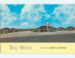 Unused Pre-1980 BELL MOTEL Marietta Georgia GA u2163