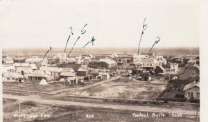RP: CENTRAL BUTTE, Saskatchewan , Canada , 1910s-30s; Bird's Eye View