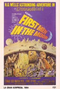 HG Wells First Men In The Moon Space Travel Film Poster Postcard