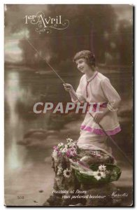 Old Postcard Fantaisie Fishes April 1st Easter