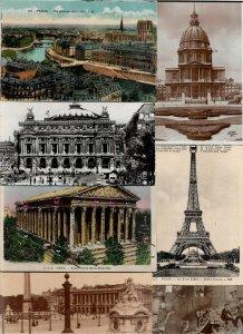 France Paris Eiffel Tower Arc De Triomphe And More Postcard Lot of 20 01.07