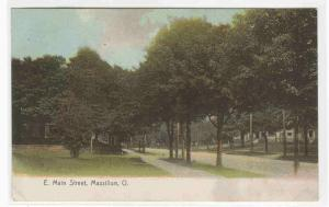 East Main Street  Massillon Ohio 1908 postcard