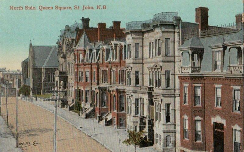 ST. JOHN , New Brunswick , Canada, 1900-10s; North Side , Queen Square
