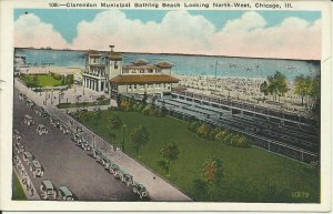 Chicago, Ill., Clarendon Municipal Bathing Beach Looking North- West