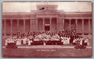 Postcard Lindsay Ontario Canada c1908 The Sheffield Choir Concert Advertisement