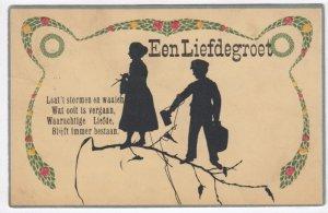 Silhouette ; 2 Children Een Liefdegroet , 1906