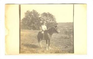 RP, Boy Riding A Horse, 1900-1910s