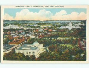 Unused W-Border AERIAL VIEW OF TOWN Washington DC n3981