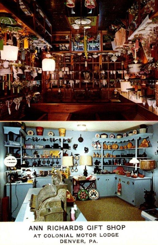 Pennsylvania Denver Colonial Motor Lodge Ann Richards Gift Shop
