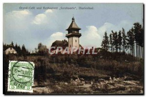 Postcard Old Grand Cofe Und REstaurant Forstwarte Marienbad