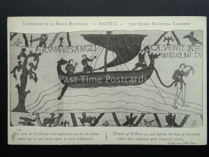 Bayeux Tapestry WILLIAM AFTER EDWARDS DEATH Old French Postcard ND Phot 136