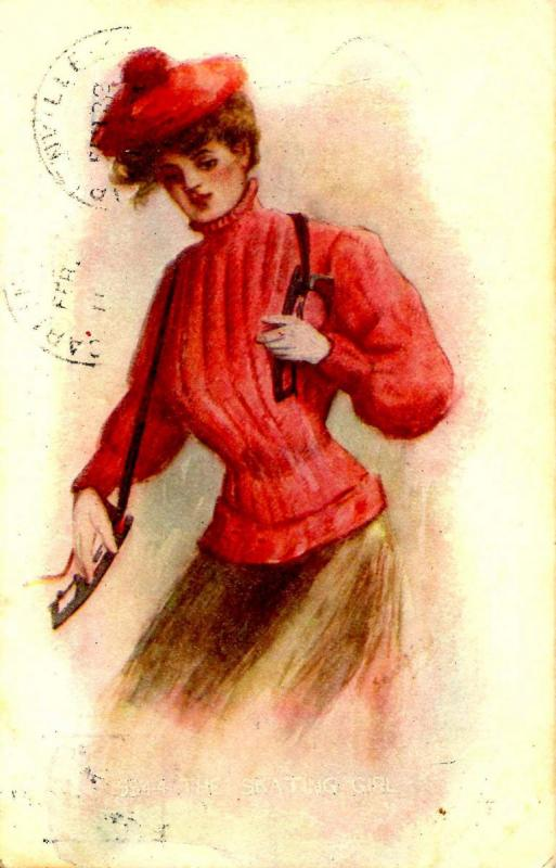 The Skating Girl - Artist Signed: Sergio Bompard