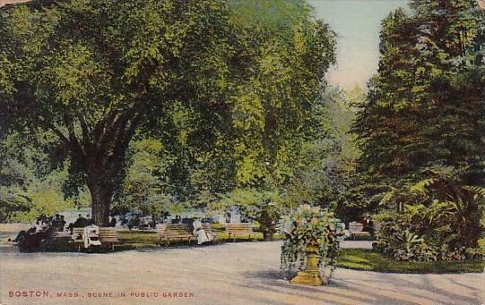 Scene In Public Garden Boston Massachusetts