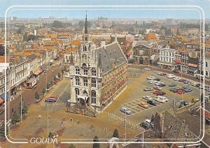 Netherlands Gouda Marktplein, Gotisch Stadhuis Town Hall Cars Voitures