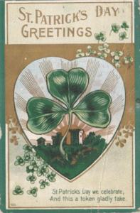 Saint Patrick's Day With Shamrocks 1910
