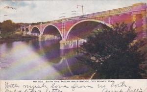 Iowa Des Moines Sixth Avenue Melan Arch Bridge 1907