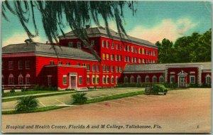 1940s Tallahassee, Florida Postcard Hospital Health Center A&M College Linen
