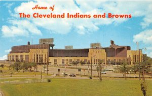 F72/ Cleveland Ohio Postcard Municipal Stadium c40s Browns Indians 7