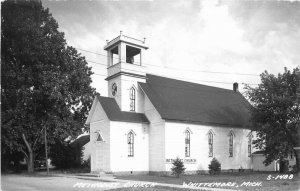 Cook 1950s Methodist Church Wintermore Michigan RPPC Photo Postcard 6024