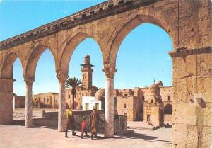 Israel Old Vintage Antique Post Card Arched pillars in the courtyard of the D...