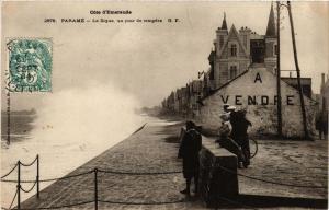 CPA PARAMÉ - La Digue un jour de tempete (356975)