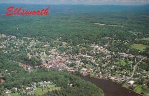 Maine Ellsworth Aerial View