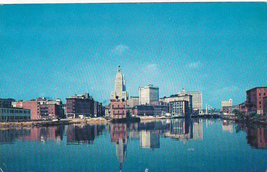 Rhode Island Providence Skyline 1961