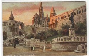 Reszlet Halaszbastyarol Budapest Hungary 1910c Tuck postcard