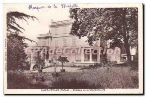 Postcard Old Saint Verand Chateau De La Chardonniere