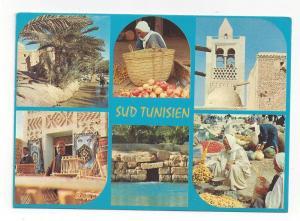 Africa Tunisia Sud Tunisien Multiview Vtg Postcard 4X6