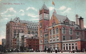 Post Office, Newark, New Jersey,  Early Postcard, Unused