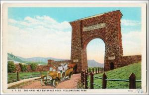 Gardiner Entrance Arch, Yellowstone Park