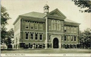 Mendon Michigan~High School~School Teachers Out Front~c1910 CU Williams
