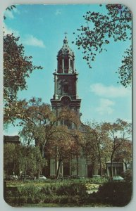 Milwaukee Wisconsin~St Johns Cathedral~Tower from Spain~Built 1847~Postcard