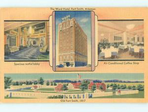 Linen WARD HOTEL & RESTAURANT Ft. Fort Smith Arkansas AR Q7140