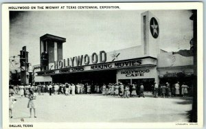 1936 TEXAS CENTENNIAL EXPOSITION Dallas Postcard HOLLYWOOD ON THE MIDWAY