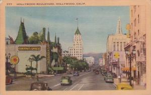 Hollywood Boulevard Hollywood California 1948