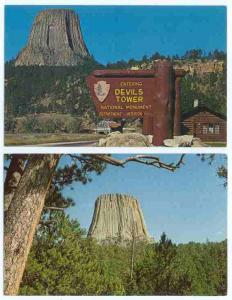 3 Cards, Devils Tower National Monument, Wyoming, WY, Chrome