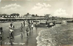 Lido Venezia Spiaggio Beach Venice Italy RPPC Resort Postcard