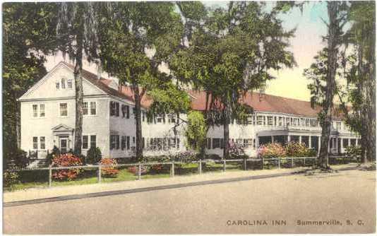 Handcolored of Carolina Inn Summerville SC South Carolina, Divided Back