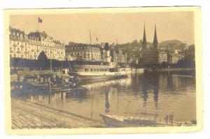 RP: Luzan, Switzerland, boat in harbour, 00-10s